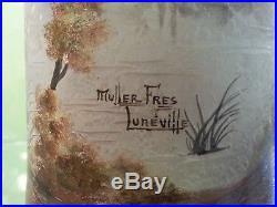 MULLER LUNEVILLE AUTHENTIQUE VASE 45 CM HAUT Gallé Legras-Daum Lalique