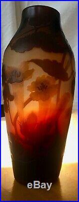 Magnifique vase DArgental Paul Nicolas élève de Gallé