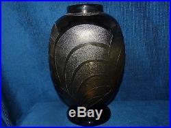 Magnifique vase ancien Schneider, ART-DECO 1930 / Gravé à l'acide