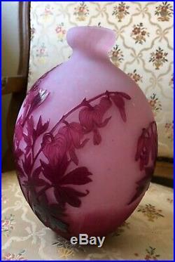 Magnifique vase dégagé acide André Delatte 1887-1953 ART-NOUVEAU (Gallé Daum.)