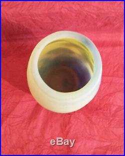 Magnifique vase en pâte de verre Gallé