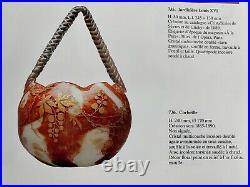 Mini Carafe A Liqueur Verre Ou Cristal De Sevres Emaille A L'or Art Nouveau 1890