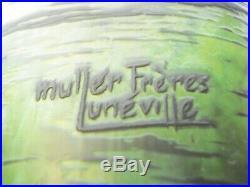 Muller Frères Lunéville France 1890-1919 Verre doublé dégagé à l'acide