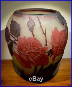 Muller Freres Vase D'époque Art Nouveau Original No Copy