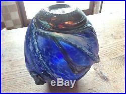 Novaro Jean-Claude. Parfait. Vase boule en verre soufflé irisé. 1989. XXe siècle