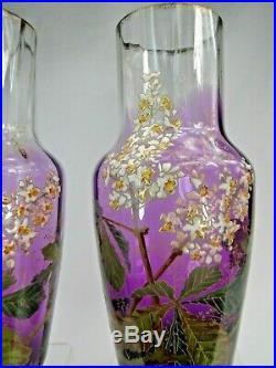 Paire De Grands Vases Legras Emailles Modele Buffon Repris Au Catalogue De 1899