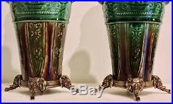 Paire De Vases Théodore Deck Pair Of Oriental Vases Ormolu-mounted Circa 1870