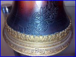 Paire de vase abel combe pâte de verre gravé acide fin XIXème art nouveau gallé