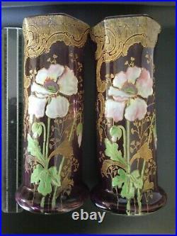 Paire de vase émaillé Legras
