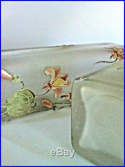 Paire de vases émaillés Art-nouveau de Legras Montjoie St Denis décor de Monna