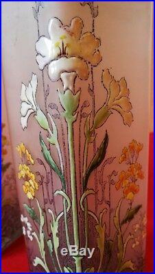 Paire de vases émaillés LEGRAS