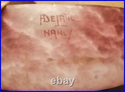 Pâte de verre Delatte Nancy coupe a fruit
