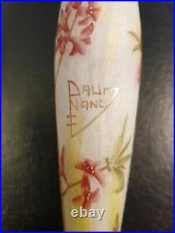Petit Vase Daum Nancy Décor floral