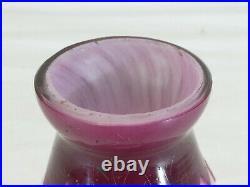 Petit Vase ou pied de lampe DELATTE NANCY en Pate de verre 15 cm ART NOUVEAU