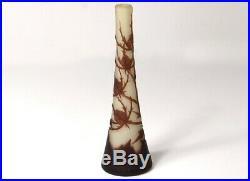 Petit vase soliflore pâte verre Richard Burgsthal chardons Art Nouveau XXè
