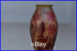 Pied de lampe en pâte de verre Art nouveau 1900 Émile Gallé