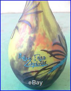 RARE vase de MULLER FRÈRES era daum gallé