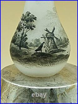 RARE vase miniature DAUM paysage, 8 cm
