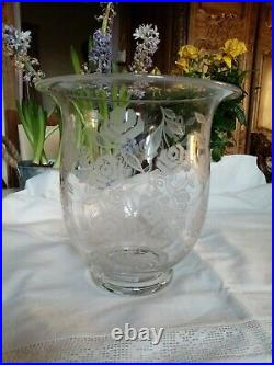 Rare Grand Vase Art Deco En Cristal Baccarat Modele Fontenay Georges Chevalier