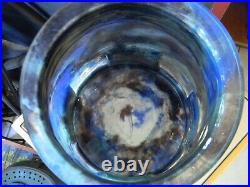 Rare Vase Art Déco Aristide Colotte Nancy en Verre et Fer Forgé signé JP