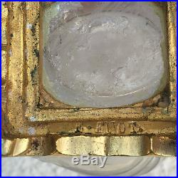 Rare Vase Art Nouveau l'escalier de cristal Monture Bronze doré Edouard Enot