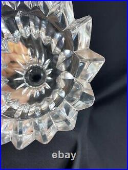 Rare Vase Cristal Lalique Moderniste Signe