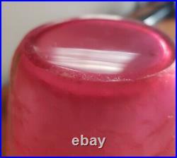 Rare Vase givré rouge atelier LEGRAS MONTJOYE aux Chrysanthèmes vers 1900