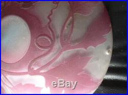 Rare Vasque D Entree Pate De Verre Art Nouveau Croismare Nancy Dlg Daum Galle
