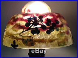 Rare lampe Champignon DAUM