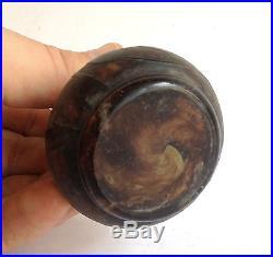 Rare superbe Vase Miniature DAUM Nancy, décor dégagé à l'acide. Art Nouveau
