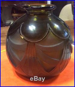 Rare vase boulle legras art deco hauteur 12.5cm