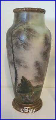 Rarissim Grand Vase signé Gauthier époque 1900 Dlg Gallé, Daum, Legras Art Nouveau