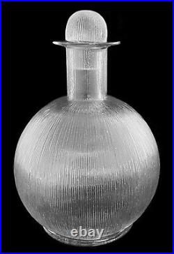 René Lalique (1860-1945) Carafe En Cristal Wingen 1926