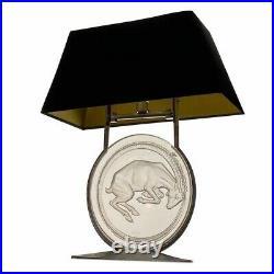 René lalique (1860-1945) Lampe de cheminée Bélier