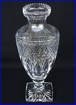 SAINT-LOUIS Vase en Cristal Taillé Pointes de Diamants ca 1930
