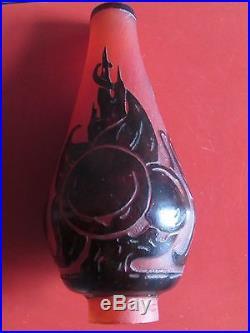 Schneider Rare Veilleuse Authentique Pate De Verre Art Nouveau Art Deco Lamp