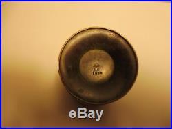SCHNEIDER, VASE conique, souflé dans une monture fer forgé, Signé