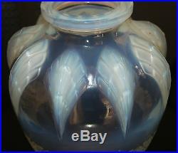 Superbe Vase Art Deco Pate De Verre Opalescent Sabino Verlys 1930