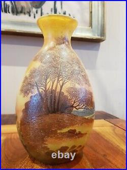 Sublime Et Gros Vase verre Émaillé Authentique De LEGRAS