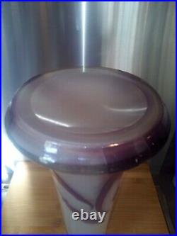 Sublime vase Gallé 45cm en pate de verre dégagé à l'acide 1900
