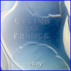 Superbe COUPE Verrerie ETLING FRANCE Opalescent glass/daum/lalique/baccarat