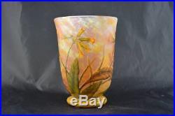 Superbe Et Gros Vase Daum Nancy Epoque Art Nouveau 1900