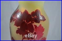 Superbe Et Gros Vase Galle Decor De Roses