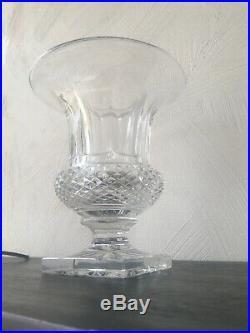 Superbe Vase Medicis Cristal Taillé Pointe De Diamant 4,34 Kg. St Louis Baccarat