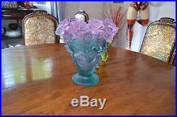 Superbe Vase Rose Daum Grand Modele
