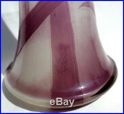 Superbe grand vase recuit Gallé aux iris era Daum Muller