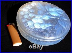 Superbe grosse bonbonnière boite opalescente ETLING, era lalique sabino daum