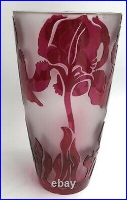 Superbe vase ART-NOUVEAU Jacqueline Simon CRISTAL VAL SAINT LAMBERT XXe