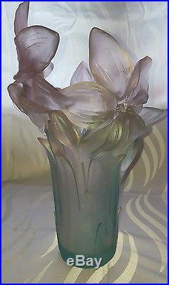 Superbe vase Daum collection Amarillys
