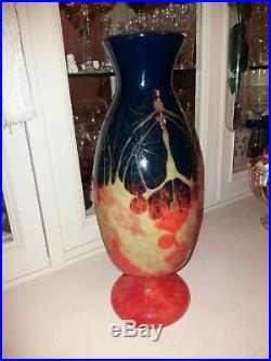 Superbe vase le verre français hauteur 41cms état superbe